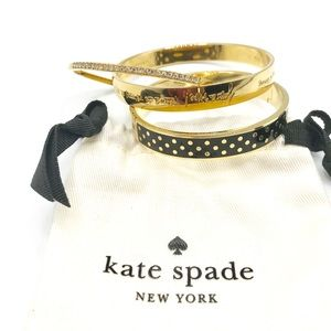 Authentic KATE SPADE Goldtone Bangles
